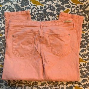 Anthro Pilcro Melon Stet Crop Pants EUC Size 32